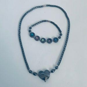 Jewelry - Bracelet and Necklace Hematite Set